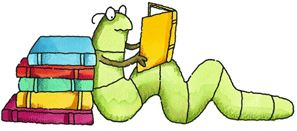 Picture of Worm reading a book
